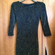 Night out dress Gold sparkly dress. Worn once! Tight fit Forever 21 Dresses Mini