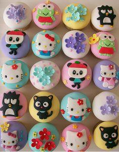 Sanrio cupcakes - pastry chef gaby