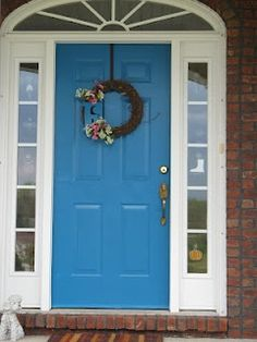 Peacock Blue. my landlord said that i could paint my front door blue...i really like this color