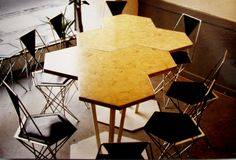 Tables combined. The chairs is designed by Jan Holmgaard.