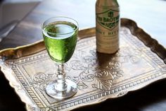 Happy St. Patrick's Day!  Represent with this Shamrock Cocktail, which makes mean, green use of chartreuse.