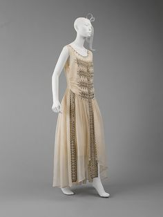 Dress (Robe de Style)  House of Lanvin  (French, founded 1889)  Designer: Jeanne Lanvin (French, 1867–1946) Date: 1922 Culture: French Medium: silk, glass, metal