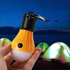 ae00961a1acdf Ourpgone 4 Color New arrive 3 LED light Outdoor Hanging LED Camping Tent  Light Bulb Fishing Lantern Lamp Wholesale