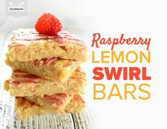 Raspberry Lemon Swirl Bars with Coconut and Honey
