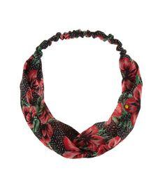 Coral Tropical Print Turban Headband