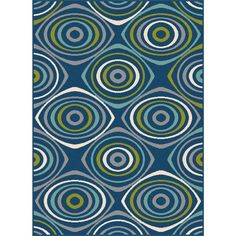 Tayse Rugs Garden City Navy 7 ft. 10 in. x 10 ft. 3 in. Transitional Area Rug-GCT1017 Navy 8x10 - The Home Depot
