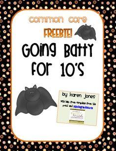 FREEBIE! Going Batty for 10's {Halloween CCSS Math Activity} - Karen Jones - TeachersPayTeachers.com