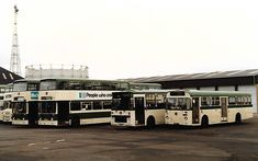 Blue Bus, Blackpool, Coaches, Buses, Swift, Transportation, Yard, Classic, Green
