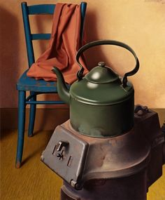 Jan van Tongeren  Still Life with Stove  1944