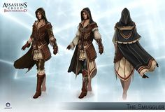 Assassin's Creed Brotherhood - The Smuggler. Costume idea, mixed with the courtesan; sleeves, stockings and gloves.