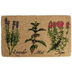 Esschert Design USA Herb Print Outdoor Door Mat * You can get more details by clicking on the image. (This is an affiliate link and I receive a commission for the sales) Outdoor Fun, Outdoor Decor, Outdoor Living, Outdoor Mats, Outdoor Spaces, Esschert Design, Funny Doormats, Home Living, Joss And Main