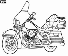 harley davidson coloring pages - 1000 images about aut motorky on pinterest coloring