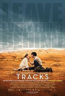 TRACKS (2013): Standing in for real-life writer Robyn Davidson, Mia Wasikowska travels across the breathtaking landscape of Western Australia with only four camels and a beloved dog for company. Her occasional human visitors include a photographer for National Geographic (Adam Driver), an indigenous Australian elder named Mr. Eddy who guides her through sacred lands, and various tourists who come to gawk at the so-called Camel Lady.