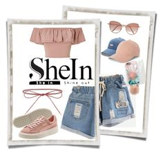 """""""Blue Denim Shorts / SheIn"""" by lily-01 ❤ liked on Polyvore featuring Elizabeth and James, Miss Selfridge, LC Lauren Conrad, Cutler and Gross and Vineyard Vines"""