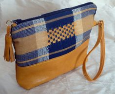 S/S2016 Small Wristlet Clutch Purse Handwoven by DianeShawSilk