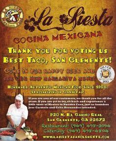 La Siesta Cocina Mexicana voted 'Best Taco' by San Clemente locals