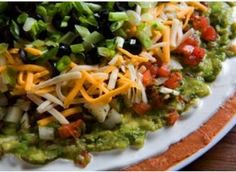 7 layer dip for super bowl party.