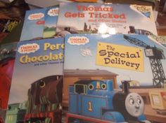 Thomas-The-Tank-Engine-and-Friends-Picture-Book-Lot-of-6-Please-Read-To-Me-PBs