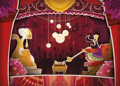 Entre Deux | alxfactory.com Illustrations, Valance Curtains, Paper Art, Fairy Tales, Behance, Crowns, Design, Home Decor, Image