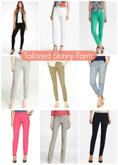 Work the Look: Tailored Skinny Pants -- great looks for the office. Who says you can't wear skinny-style pants to work?