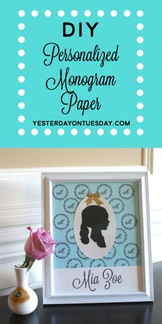 How to create Monogram Paper, great for scrapbooking and framing projects!