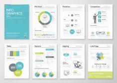 Infographie illustration de concept original. Graphismes brochures d'affaires vector art illustration