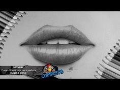 Como dibujar una boca: labios realista paso a paso FACIL I How to draw a mouth: realistic lips - YouTube