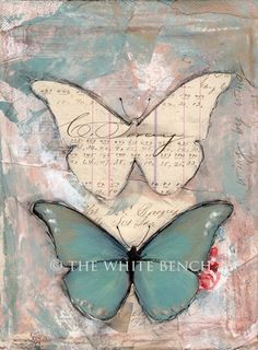 """Wing By Wing"", Mixed Media Art Print."