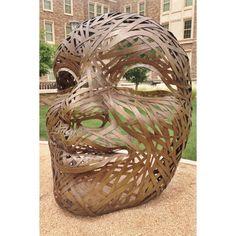 Four Faces sculptures at Talkington Hall on Texas Tech campus. Sculptures, Lion Sculpture, Texas Tech University, Red Raiders, Alma Mater, Texas Rangers, Faces, Spirit, Statue