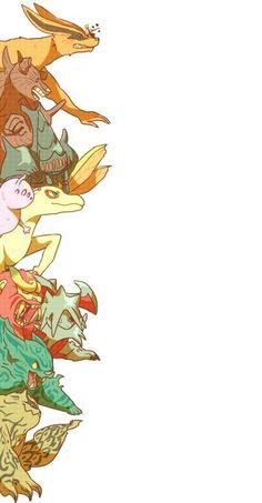 Bijuu, Tailed Beasts, Naruto, Nine Tail Sage Mode, cute; Naruto
