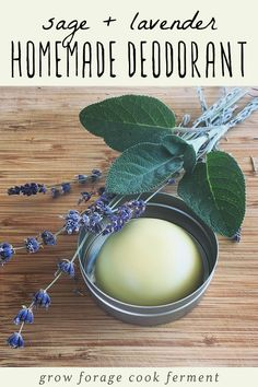 Homemade Deodorant Recipe with Lavender and Sage Homemade deodorant is easy to make and good for your health. This herbal deodorant recipe is made with lavender and sage, both herbs that have many beneficial properties. Wine Bottle Crafts, Mason Jar Crafts, Mason Jar Diy, Homemade Beauty, Diy Beauty, Beauty Tips, Beauty Hacks, Beauty Care, Beauty Products