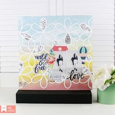 @americancrafts new layout featuring the brand new Dear Lizzy Lovely Day #DLlovelyday @gina_lideros