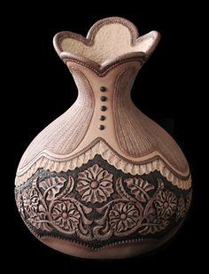 Sweet Gourdja Brown   Gourd art of Jordan Straker