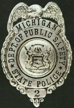 Michigan State Police Badge 1921-1924