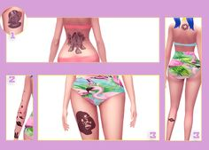 "🌵 Star wars and ufo tattoos for your sims 🌵  ""3 swatches  Download [dropbox]  """