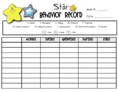 Behavior chart and lots more