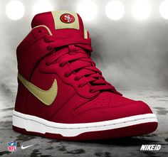 San Francisco 49er sneakers. West Coast! Best Coast!