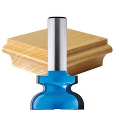 "Rockler Drawer Pull Router Bit - 1-3/8"" Dia x 7/8"" H x 1/2"" Shank"