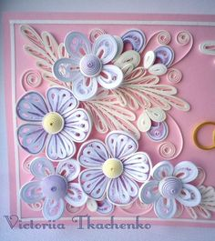 Quilling wedding card: details: