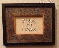 Barn wood framed sign