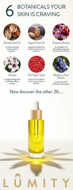 Treat your skin to the natural nutrients it's craving - discover the natural goodness packed into Lumity Life Facial Oil.