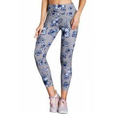 4bcb778aa9 High Waist Yoga Sport Leggings with Floral Print