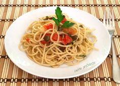 Spaghetti con acciughe e capperi, ricetta siciliana, cucina preDiletta