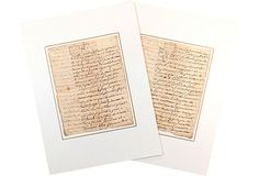 I bought these this morning, and can't wait for them to arrive to give them a new home.   1768 French Marriage Manuscripts on OneKingsLane.com