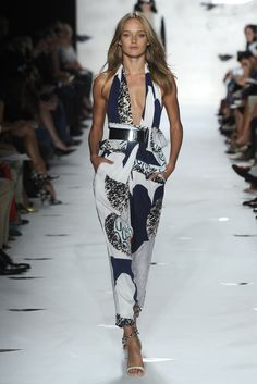 """Jumpsuits Are Not New To """"Fashion!"""" However, Be Prepared For More Skin Bearing & Abstract Patterns For The 2013 Spring Collection Look Sexy & Sophisticated Ladies! Diva Fashion, Runway Fashion, Fashion News, Fashion Models, Fashion Design, Von Furstenberg, Fashion Prints, American, Designer"""