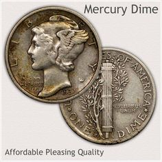 High Grade and Desirable Collector Quality Mercury Dime Silver Coins For Sale, Gold Coins, Rare Coin Values, Silver Value, Old Coins Value, Rare Pennies, Old Coins Worth Money, Antique Coins, Antique Glass