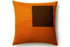Pieces 20x20 Outdoor Pillow, Orange on OneKingsLane.com