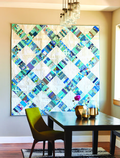 Scrap Lattice Quilt by Heather Kojan Photo by Matt GravesScrap Lattice by Heather Kojan. use this pattern/style to make a smaller quilt of jagged interconnecting latticesEasy Fat Quarter Quilt Patterns for Modern Quilters - The Quilting Company Lattice Quilt, Triangle Quilts, Crumb Quilt, Scrap Quilt Patterns, Quilting Ideas, History Of Quilting, Quilt Modernen, Fat Quarter Quilt, String Quilts