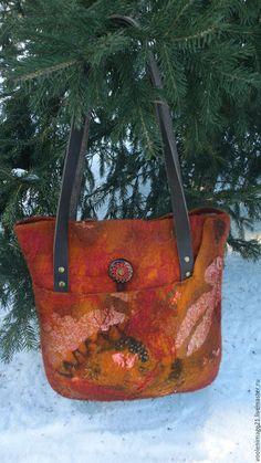 Купить Сумка валяная «Солнце со мной» - модная сумка, удобная сумка, шерсть 100%