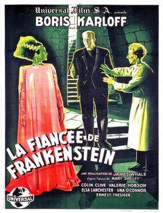 NOVIA del monstruo de FRANKENSTEIN Movie Poster Boris Karloff